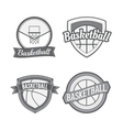 set basketball vintage labels vector image