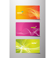 Set of abstract colorful labels with lines and vector image vector image