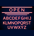 set retro neon open signs background vector image vector image