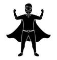 superdad cartoon character silhouette vector image