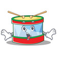surprised toy drum character cartoon vector image vector image