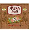 sushi meal taditsionnaya east china japan korea vector image
