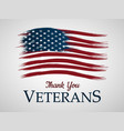 veterans day background thank you vector image vector image