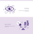 vision and balance business concept template web vector image