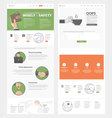 Website template with concept icons for business