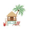 wooden house on beach