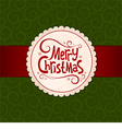 Xmas green background vector image vector image