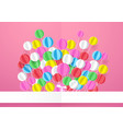 happy birthday banner with colorful balloons vector image