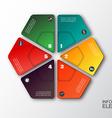 modern hexagon infographics options banner vector image