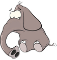 A elephant calf cartoon vector image vector image