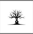 abstract tree logo design root logo design vector image vector image