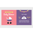 Baby shower invitation template Colored flat vector image