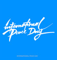 background for international day of peace hand vector image vector image