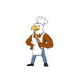 Bald Eagle Baker Chef Rolling Pin Cartoon vector image