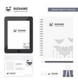 bat business logo tab app diary pvc employee card vector image vector image