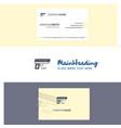 Beautiful gun logo and business card vertical