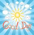 beautiful Sunny day vector image