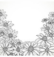 black and white graphic line drawing lush vector image vector image