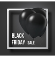 Black Friday Sale Air Balloon in Frame Poster vector image vector image