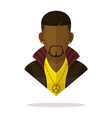 black men avatar vector image