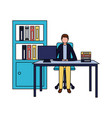 business people office vector image vector image