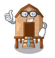 businessman chiken coop isolated on a mascot vector image vector image