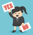 Cartoons concepts yes or no vector image