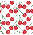 cherry seamless pattern good for textile vector image vector image
