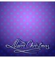 christmas card merry lettering vector image vector image