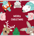 christmas posters template for vector image vector image