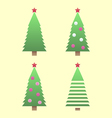 Christmas tree gradient vector image vector image