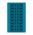 city apartment building icon flat style vector image