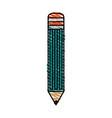 color crayon stripe cartoon front view pencil vector image vector image