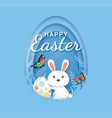 easter day banners rabbit with easter eggs vector image