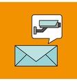 email camera surveillance design vector image vector image