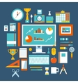 Flat design style modern icons set of office items vector image vector image
