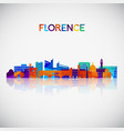 florence skyline silhouette in colorful geometric vector image vector image