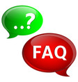 frequently ask question concept vector image