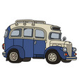 funny old bus vector image vector image