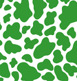 green cow skin pattern vector image vector image