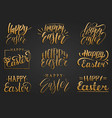 happy easter handwritten lettering setreligious vector image vector image