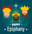 happy epiphany concept background flat style vector image vector image