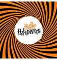 Happy Halloween Typography On orange rays hypnotic vector image vector image