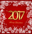happy new year 2017 christmas card white text on vector image vector image