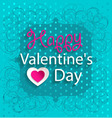 Happy Valentines Day Design Background with hearts vector image