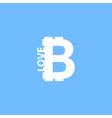i love bitcoin icon vector image vector image
