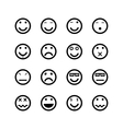 icons smiley faces vector image