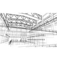 industrial zone sketch vector image vector image