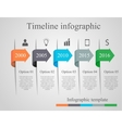 Infographics arrow timeline template vector image vector image
