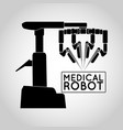 medical robot icon vector image vector image